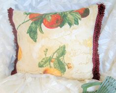 Waverly Pillow French Country Pillow La Frutta by BuffaloDesigns, $12.00