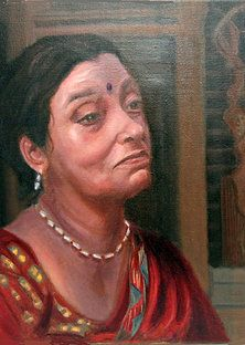 Protrait paintings of Leslie Margolis - Mama Awa
