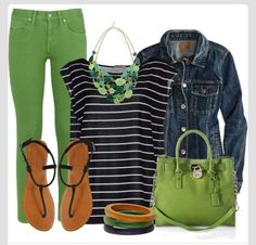 Colors for jeggings- Green