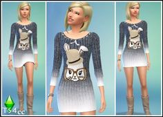 Cute dress with bunny at Pink Zombie Cupcake • Sims 4 Updates