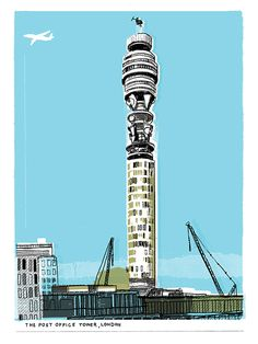 GPO Tower by Kavel Rafferty - East End Prints