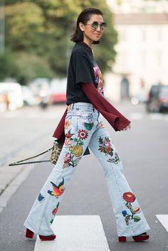 Confira tudo sobre a tendênncia do jeans bordado!