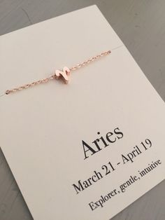 Zodiac necklace, rose gold necklace, birthday gift, Aries necklace, Taurus necklace, star sign necklace, astrology gift, Horoscope necklace by GallaghersBoutique on Etsy https://www.etsy.com/listing/263174260/zodiac-necklace-rose-gold-necklace