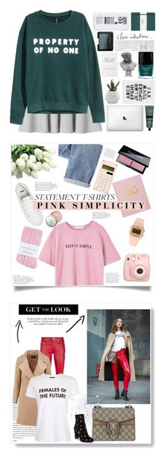 """Winners for Say What: Statement T-Shirts"" by polyvore ❤ liked on Polyvore featuring Monki, H&M, Visionnaire, Aesop, Butter London, NARS Cosmetics, Shinola, ASOS, MANGO and Wrap"