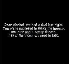 #alcohol #nodeal