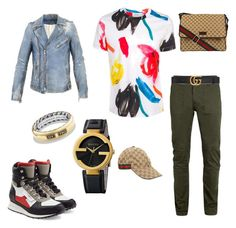 """Gucci"" by yeezydagodx on Polyvore featuring Dsquared2, Paul Smith, Balmain, Topman, Gucci, David Yurman, mens, men, men's wear and mens wear"