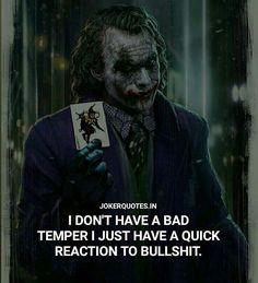 So so soo fucking meeee😞😄🤟 Heath Ledger Joker Quotes, Best Joker Quotes, Badass Quotes, Wisdom Quotes, Words Quotes, Life Quotes, Qoutes, Happy Quotes, Relationship Quotes