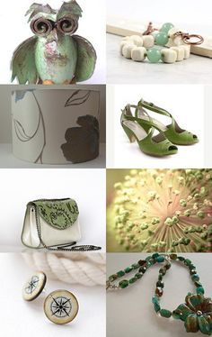 Now this Etsy Treasury list has even made me Green with envy. And that's not just because of my Ivory silk lampshade --Pinned with TreasuryPin.com