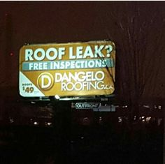 Great picture taken of our billboards by one of our customers #dangeloandsons