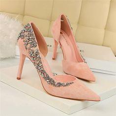 Pumps Heels, High Heels, Bridal Heels, Pump Types, Vintage Heels, Toe Shape, Vintage Rhinestone, Vintage Fashion, Vintage Style