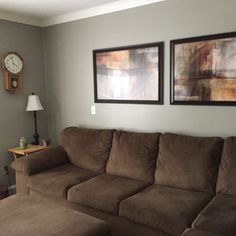 Benjamin Moore Rockport Gray Living Room