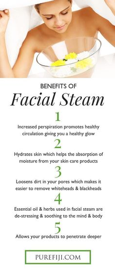 10 DIY At Home Facial Steams for Clear Glowing Skin Benefits of facial steam? Steaming releases & loosens dirt and debris in your pores which makes it easier to remove whiteheads & blackheads. Organic Skin Care, Natural Skin Care, Natural Beauty, Organic Makeup, Natural Face, Organic Beauty, Anti Aging, Facial Steaming, Couture