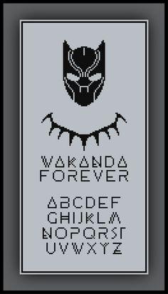 Patreon Only Black Panther Cross Stitch Pattern Wakanda Forever Alphabet
