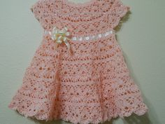 Beautiful baby crochet dress!! Vestido para Bebe y cualquier talla parte 1 de 2 MilArt Marroquin - YouTube