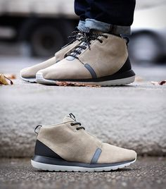 """The Nike Roshe Run Men's SneakerBoot is now available in a """"Bamboo"""" colorway. The stylish runner combines the signature look of a versatile Nike style with warmth, comfort and weather protection...    more details at blessthisstuff.com"""