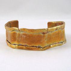 Copper Cuff Bracelet Fold formed by HCJewelrybyRose on Etsy