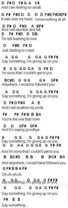 Flute Sheet Music: Say Something