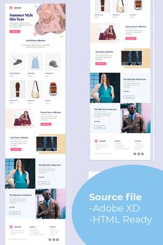 MyFash Fashion Multipurpose Email Newsletter Template - Email Template - Ideas of Email Template - MyFash Fashion Multipurpose Email Newsletter Template Email Newsletter Template, Email Template Design, Web Design Software, Email Newsletters, Email Templates, Email Design, Blog Design, Design Design, Graphic Design