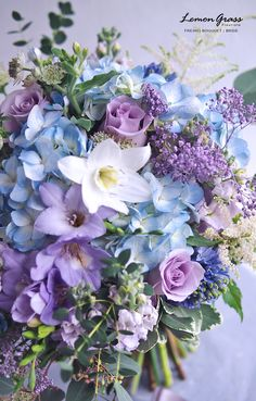 All Flowers, Fresh Flowers, Beautiful Flowers, Wedding Flowers, Flower Bouquets, Bridal Bouquets, Lilac, Lavender, Purple