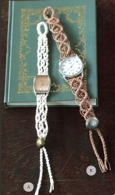 Make Your Own DIY Macramé Watchband (Free Project Download!) - http://www.smpcraft.com/wp-content/uploads/2013/09/watchband-free-project.pdf