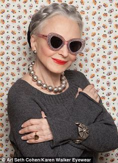 New Zealand Designer Karen Walker Casts Seniors To Model Her New Sunglasses Line, Advanced Style. FAB!