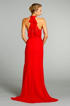 A red dress for a bridesmaid or Mother of the Bride, from Jim Hjelm, Fall 2012