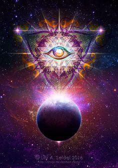 Cosmic Eye by Lilyas.deviantart.com on @DeviantArt: