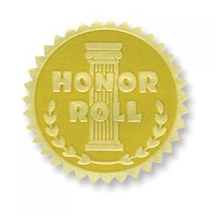 Honor Roll Gold Foil Embossed Certificate Seals are a great addition to any Honor Roll certificate or award. End of the year teaching supplies. Classroom Incentives, Embossed Seal, Counseling Office, Award Certificates, School Bulletin Boards, Honor Roll, Childhood Education, Fun Learning, Gold Foil