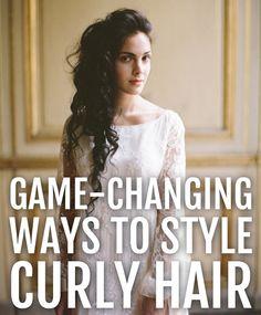 curly hair styles.
