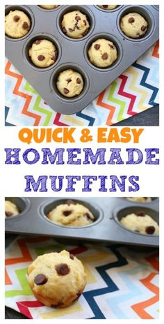 Quick and easy homemade muffins are made with pantry staple ingredients and make a simple snack or breakfast on-the-go. @MomNutrition