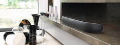 Bowers and Wilkins Panorama 2 Soundbar Black Kitchen Lifestyle Image