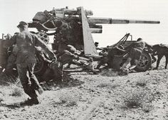 FlaK-36 (88mm): This AA gun was an upgrade of the FlaK-18. It made use of a two-piece barrel for easier replacement of worn liners. The trailer design was also improved for quicker setup time, though the weight of the trailer had increased.
