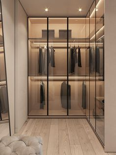 52 Popular Wardrobe Design Ideas In Your Bedroom. The most essential and important aspect of your bedroom includes your bed and bedroom wardrobe. Wardrobes give you extra storage capacity in your room. Walk In Closet Design, Bedroom Closet Design, Wardrobe Design, Closet Designs, Luxury Wardrobe, Luxury Closet, Walk In Wardrobe, Bedroom Wardrobe, Glass Wardrobe