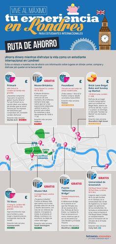 Infografía sobre la ruta más económica para disfrutar Londres Time Travel, Places To Travel, Travel Around The World, Around The Worlds, Big Ben, Travelling Tips, Traveling, Eurotrip, London Travel