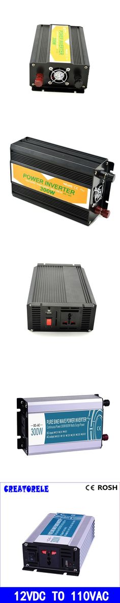 300W 12v dc to 110v ac  pure sine Wave inverter voltage converter  solar inverter electric powerr inversor P300-121