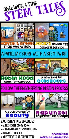 STEM activity for kids – fairy tales with a STEM twist. Perfect for grades … STEM activity for kids – fairy tales with a STEM twist. Perfect for grades The story book guides the students through the engineering design process. Steam Activities, Science Activities, Fairy Tale Activities, Science Ideas, Science Experiments, Enrichment Activities, Science Books, Physical Activities, Science Classroom