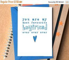 Favourite Boyfriend Ever Ever Ever Card birthday by BeckaGriffin
