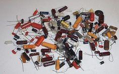 Lot Vintage Capacitors Sprague Mallory Arco Speco TRW Mixed Voltage Sizes   eBay