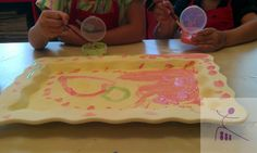 Family pottery painting and creating keepsakes