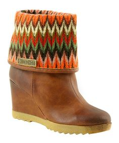 Take a look at this Red Hot Footwear: Camel Chevron Ankle Boots by Red Hot  on #zulily today!