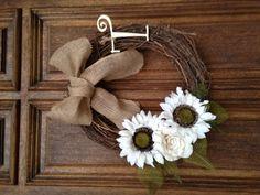 Summer Wreath minus the burlap