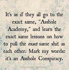 Haha! Men are assholes!