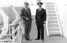 SEA CRUISE - John Wayne & Commodore John Anderson, captain of the SS United States.