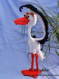 Amigurumi Crochet Pattern Stuart the Stork English Version