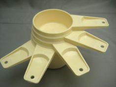 Vintage Set 5 Almond Tupperware #MeasuringCups #Collectible
