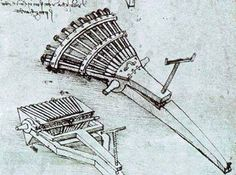Eight Barrelled Machine Gun Designed by Leonardo da Vinci