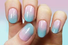 Gradient Pastel Nail Art Tutorial - paint brush instead of sponge