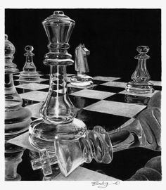 crystal chess drawing  https://www.facebook.com/dessinartcindymf?directed_target_id=192442342047
