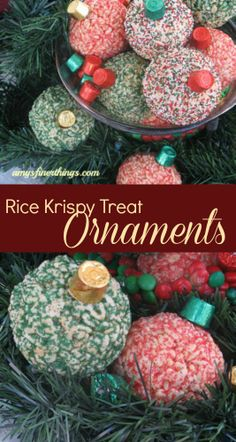 Rice Krispy Treat Ornaments - could not be any cuter!