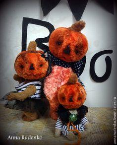 Купить Тыквенная грусть - рыжий, тыква, тыквенный, хеллоуин, halloween, авторская ручная работа